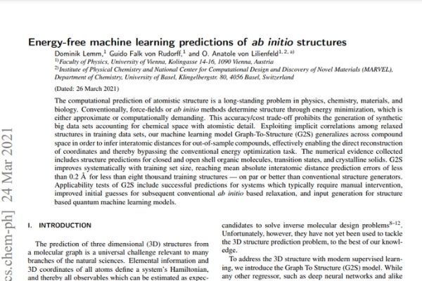 Energy-free machine learning predictions of {em ab initio} structures